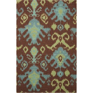 Tahani Chocolate Blue Area Rug