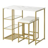Hanley 3 - Piece Counter Height Dining Set by Everly Quinn