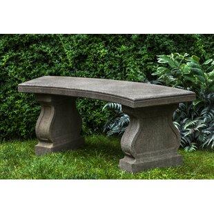 Zimelman Cast Stone Garden Bench by Astoria Grand