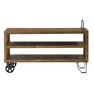Melksham 2 Tier Pine Wood Console Table by Gracie Oaks