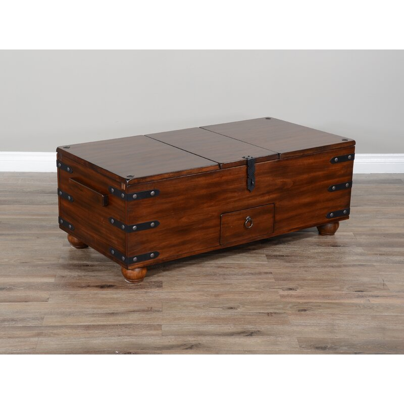 Alcott Hill Joslin Solid Wood Lift Top Block Coffee Table With Storage Wayfair