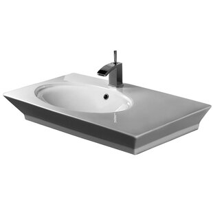 Order Opulence Above Counter Basin Rectangular Vessel Bathroom Sink with Overflow By Barclay