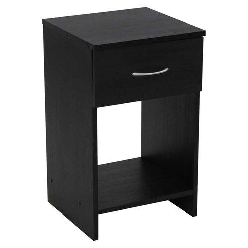 Nachttisch mit 1 Schublade | Schlafzimmer > Nachttische | Schwarze eiche | ClearAmbient