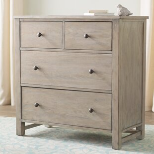 Burgundy Small 4 Drawer Accent Chest by Lark Manor