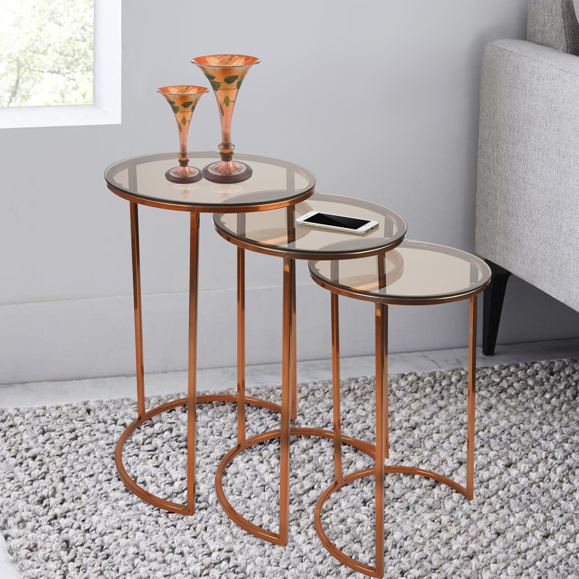 3 Glass Nesting Tables You Ll Love In 2021 Wayfair