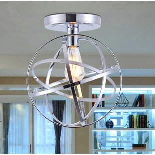 Daubert 1-Light Semi Flush Mount by Wrought Studio