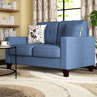 Merton Linen Tufted Loveseat