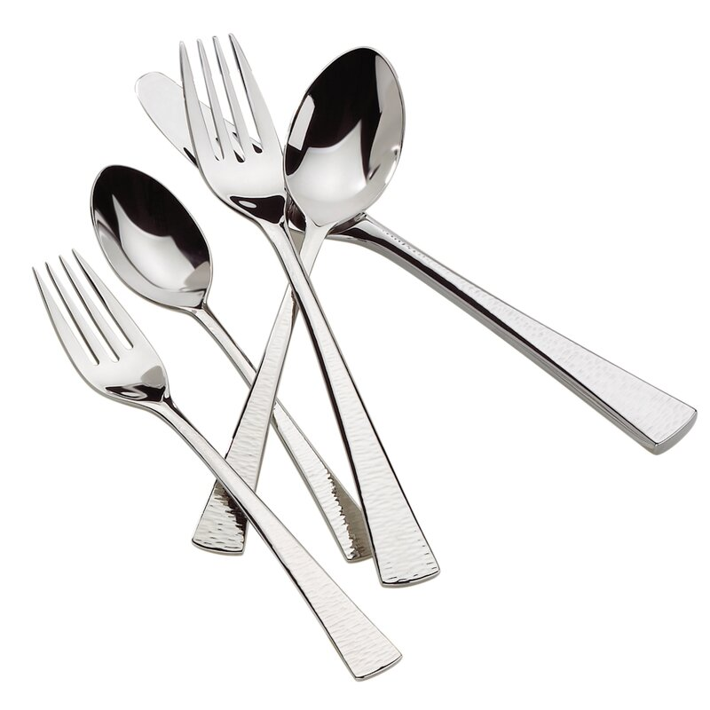Biscayne 65 Piece 1810 Stainless Steel Flatware Set Service For 12