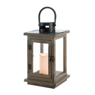 Rustic Wood Lantern by Breakwater Bay