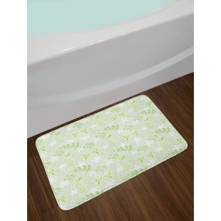 Swirling Mint Bath Rug