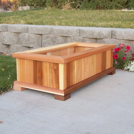 Bunceton Cedar Wood Planter Box