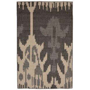 Finklea Ikat Gray Ivory Indoor Outdoor Area Rug