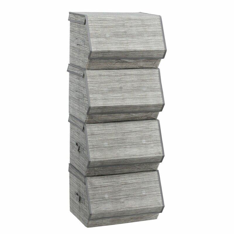 Rebrilliant Large Stackable Storage Organizers Fabric Cube Or Bin Reviews Wayfair