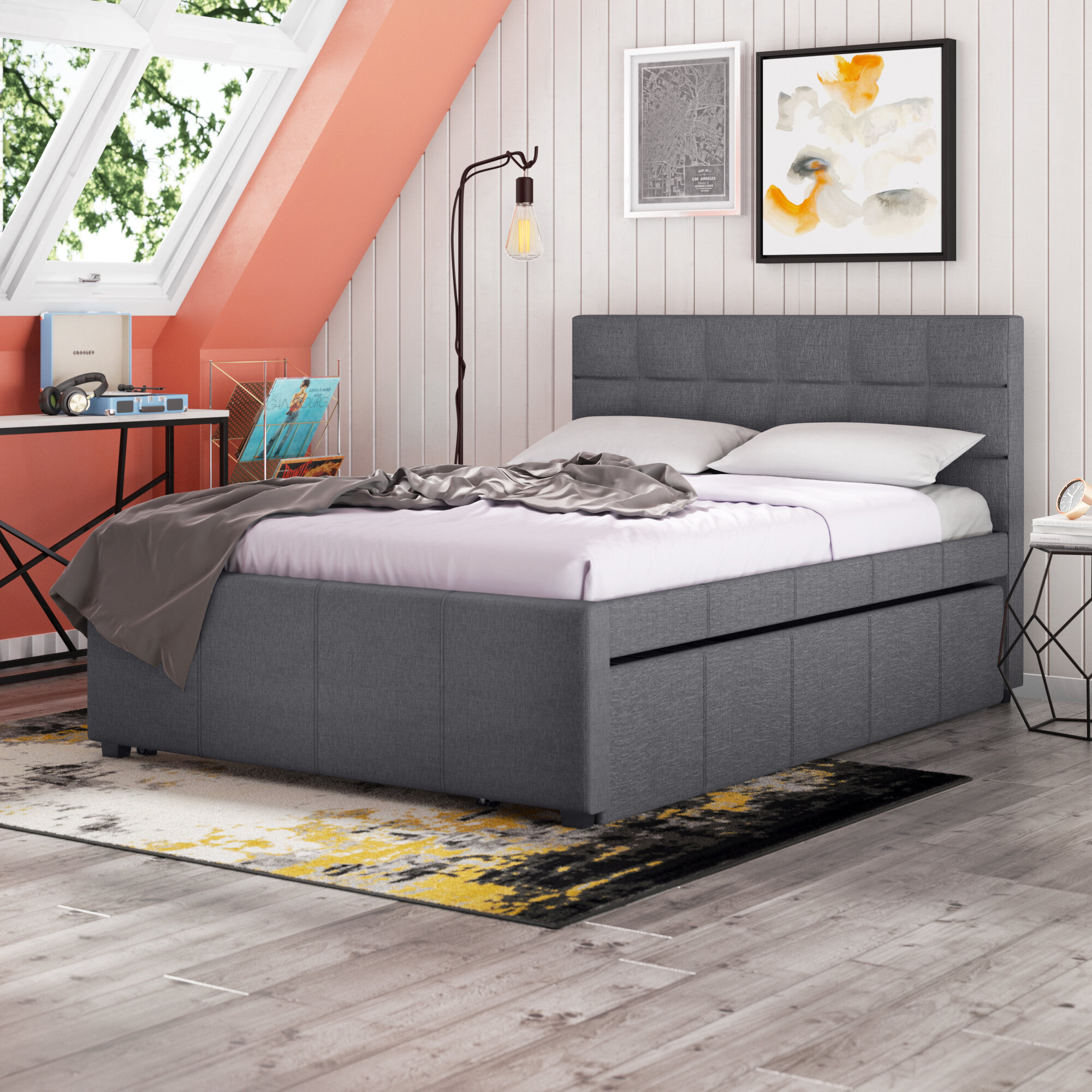 Brayden Studio Thornton Full Double Tufted Upholstered Platform Bed Reviews Wayfair