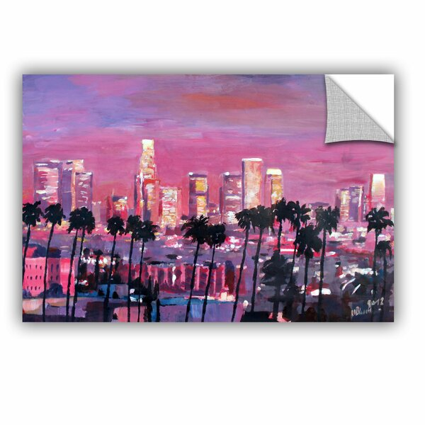 Artwall Artapeelz Los Angeles Golden Skyline By Marcus Martina Bleichner Unframed Print On Plastic Wayfair