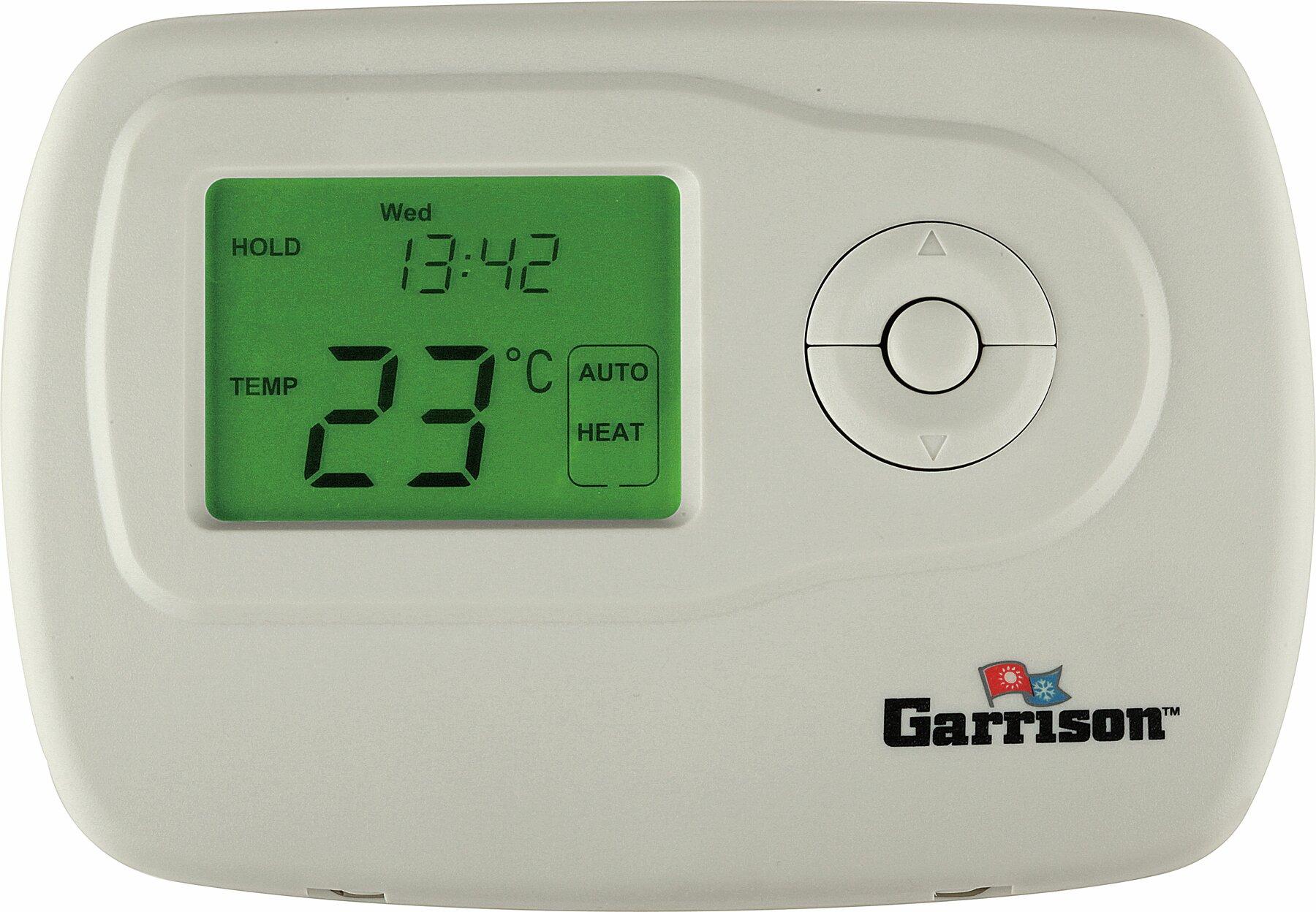 garrison garrison digital thermostat wayfair rh wayfair com Electric Baseboard Heaters 220 Volt Wiring with Romex Wiring 2 Baseboard Heaters to 1 Thermostat