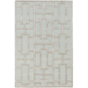Perpetua Hand-Tufted Light Blue Area Rug