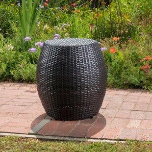 Balbuena Outdoor Wicker End Table by Wrought Studio