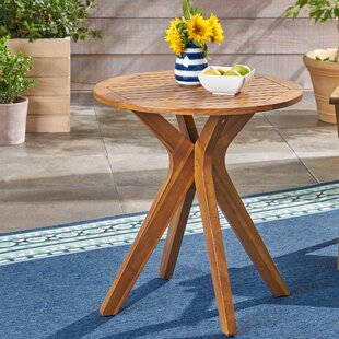 Pericles Outdoor Wooden Bistro Table