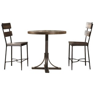 Putney 3 Piece Counter Height Breakfast Nook Dining Set Gracie Oaks