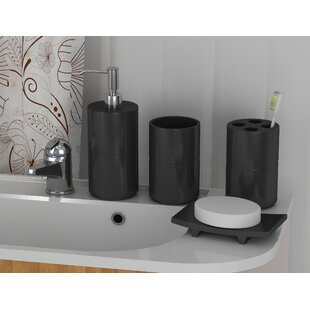 Kole 4 Piece Bathroom Accessory Set