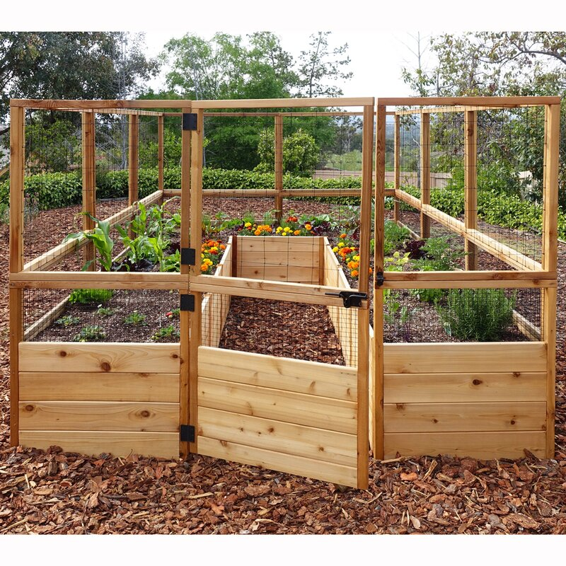 Outdoor Living Today 8ft X 12ft Raised Garden Bed With Deer Fence