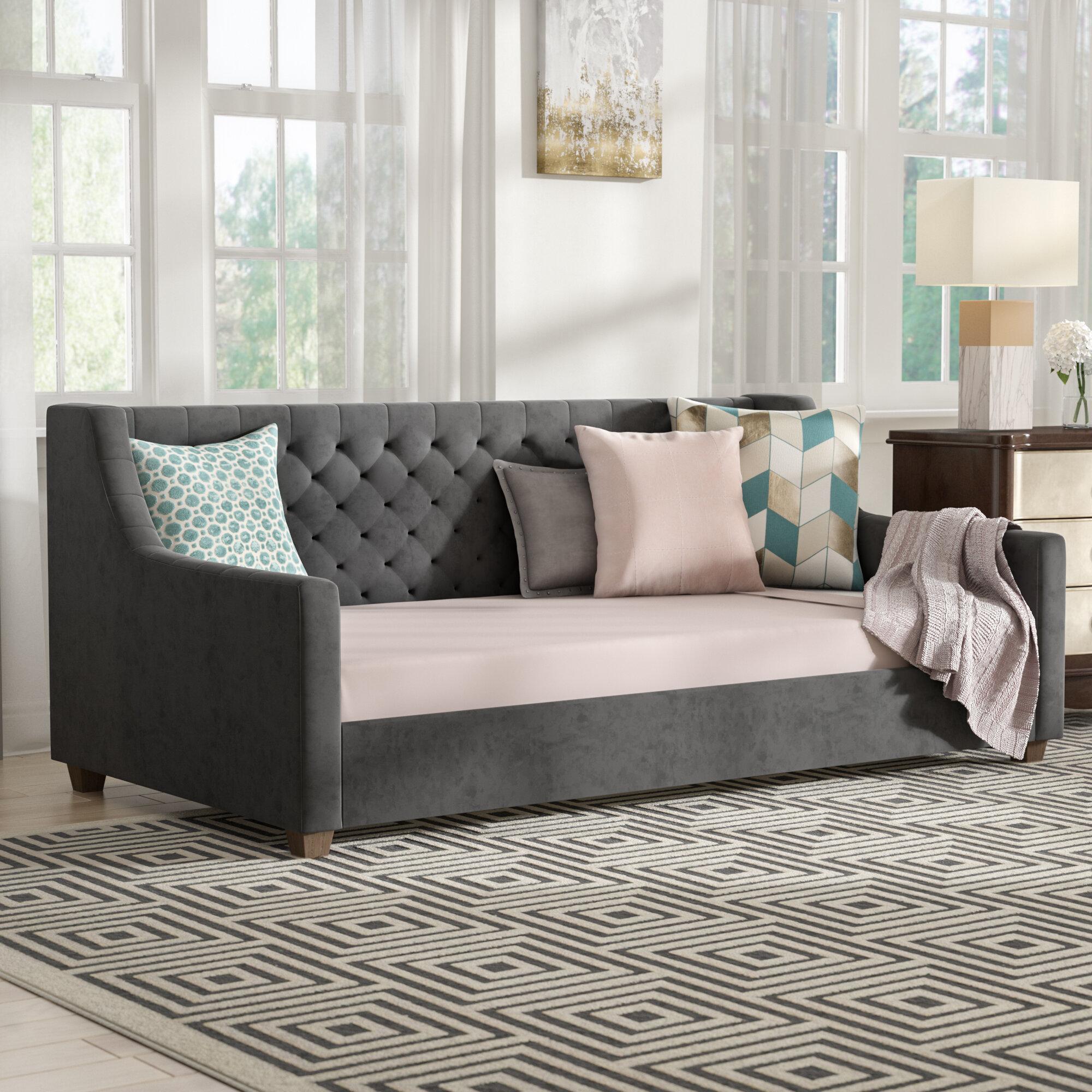Willa Arlo Interiors Pihu Upholstered Twin Daybed Reviews Wayfair