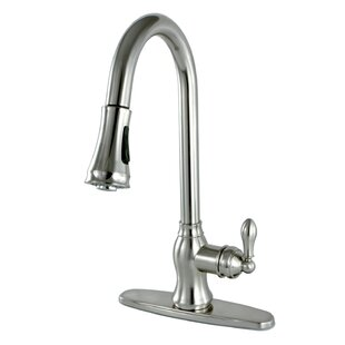 Kingston Brass American Classic Pull Down Single Handle Kitchen Faucet with Side Sprayer