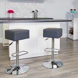 Norcross Swivel Adjustable Height Bar Stool (Set of 2) by Orren Ellis