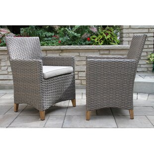 Sudduth Teak Patio Dining Chair (Set of 2)