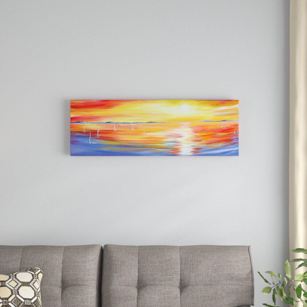 East Urban Home Sun Glow Painting Print On Wrapped Canvas Wayfair