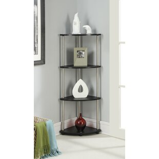 D'Aulizio 4 Tier Corner Unit Bookcase by Ebern Designs
