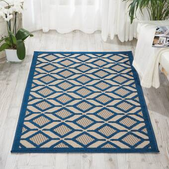 World Menagerie Lafave Abstract Blue Black Area Rug Reviews Wayfair