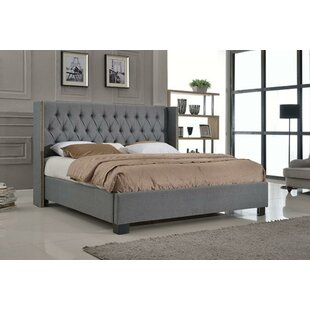 Mcguire Button Tufted Footboard Upholstered Platform Bed