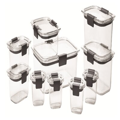 Rubbermaid Brilliance 10 Containers Food Storage Set