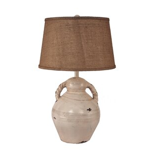 Lawncrest Swirl Handled Pottery 31 Table Lamp