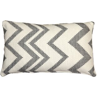 'Moreau Zigzag Cotton Lumbar Pillow