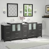 Karson Framed 84 Double Bathroom Vanity Set by Wade Logan®