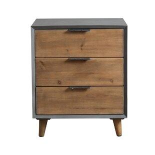 Teton Home Minimalist 3 Drawer Wooden Cabinet Chest