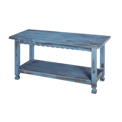 Mangum Wood Storage Bench House of Hampton Colour: Blue