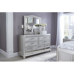 Willa Arlo Interiors Guillaume 7 Drawer Double Dresser with Mirror