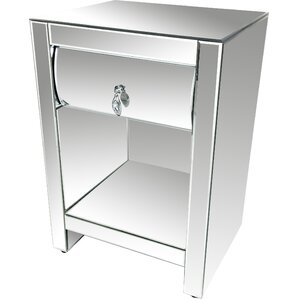 hot curve 1 drawer nightstand