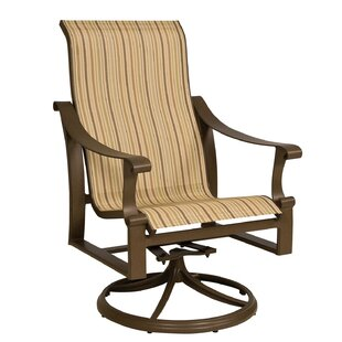 Woodard Bungalow High Back Swivel Rocking Chair