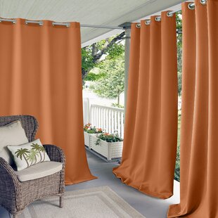 Connor Solid Light Filtering Grommet Single Curtain Panel by Elrene Home Fashions
