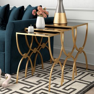 Reynaldo 3 Piece Wood Top Nesting Tables
