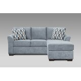 Hinkley 82 Reversible Sofa & Chaise with Ottoman by Winston Porter