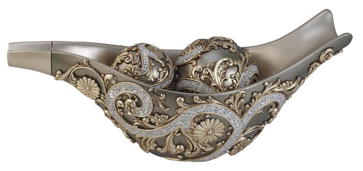 Gold Decorative Bowl New Bloomsbury Market Isabelle Gold Decorative Bowl With Spheres Design Decoration
