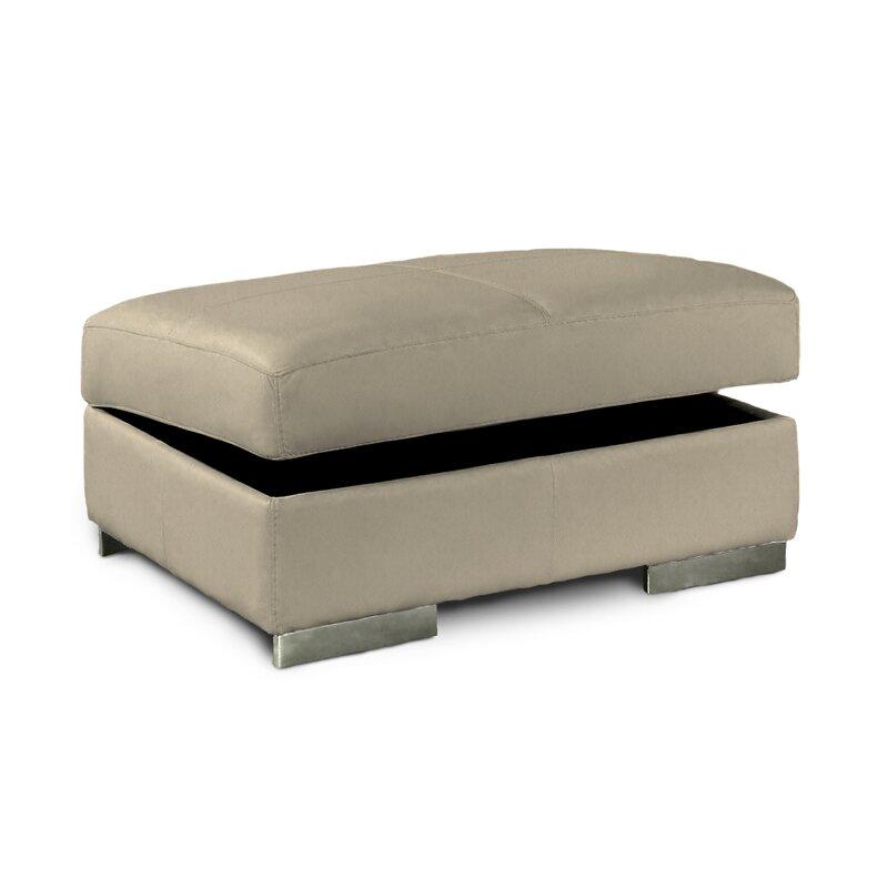 pin cast leather ottoman drawers bi with espresso in petula storage hokku designs four