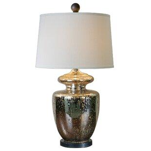 Antonia Ailette Antiqued Mercury Glass 33 Table Lamp