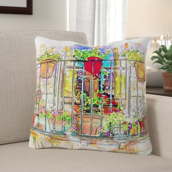 Winston Porter Cutlip Balcony Throw Pillow Wayfair